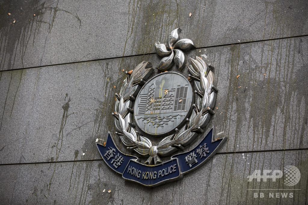 香港警察、手製爆発物工場を摘発と発表 現場には独立派のビラも