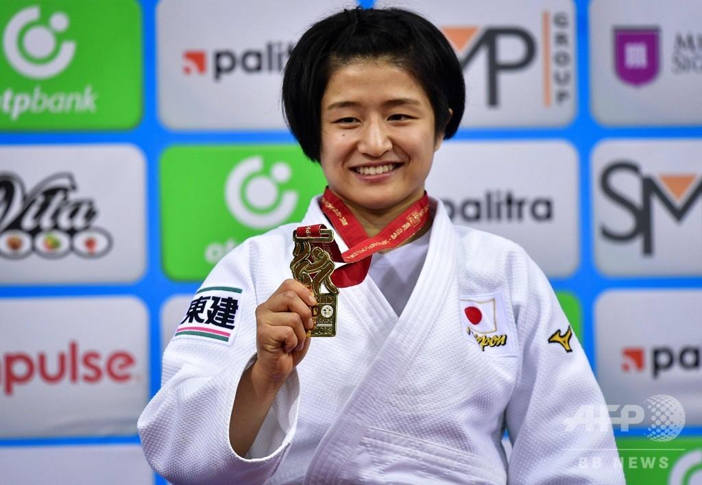 芳田が女子57キロ級で金メダル、世界柔道選手権