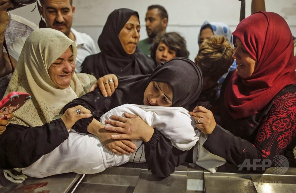 ガザ衝突、催涙ガスで乳児1人が死亡 保健省発表