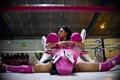 リングの上で「男女対決」、ルチャリブレの女性レスラー メキシコ