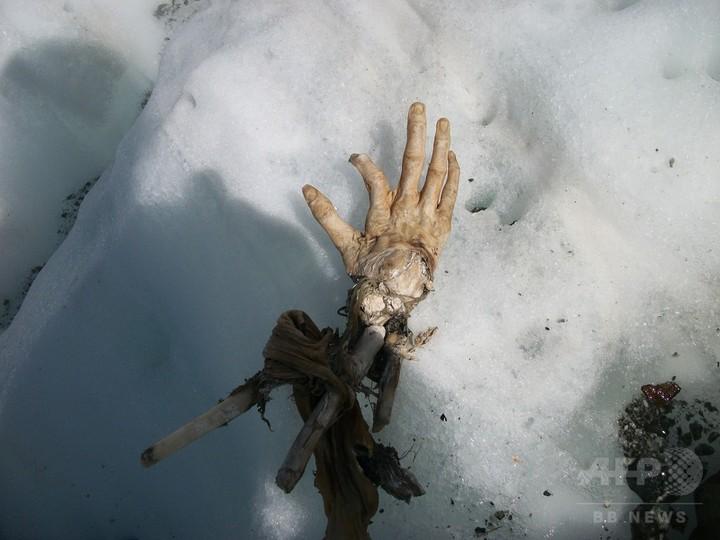仏モンブランで遺体発見 50年以上前の墜落機乗客か