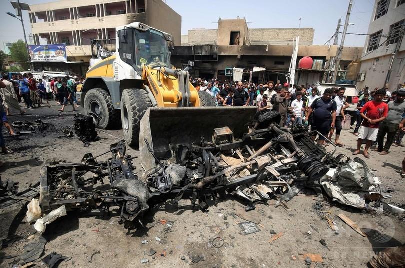 イラク首都で車爆発3件、94人死亡 ISが全てで犯行認める