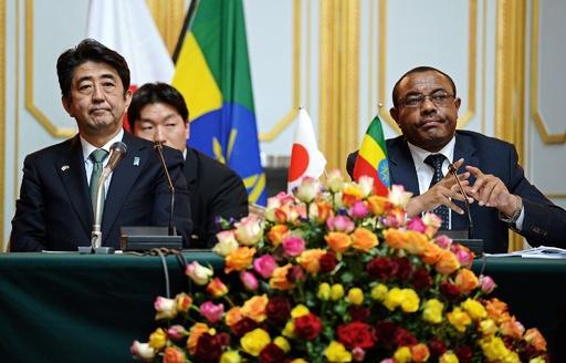 安倍首相、エチオピア首相と会談 南スーダン停戦呼び掛け
