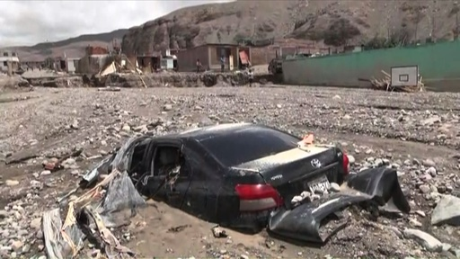 動画:ペルー南部、洪水と土砂崩れで11人死亡 大統領ら視察 現地の映像