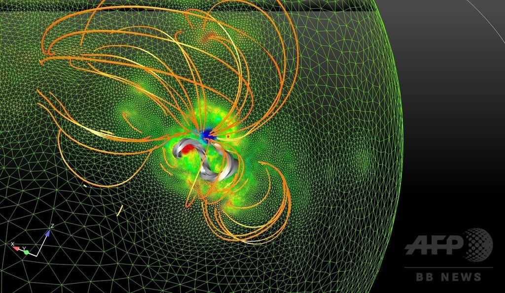 「ねじれた縄状」の磁場出現、太陽嵐予測の手掛かりに 研究