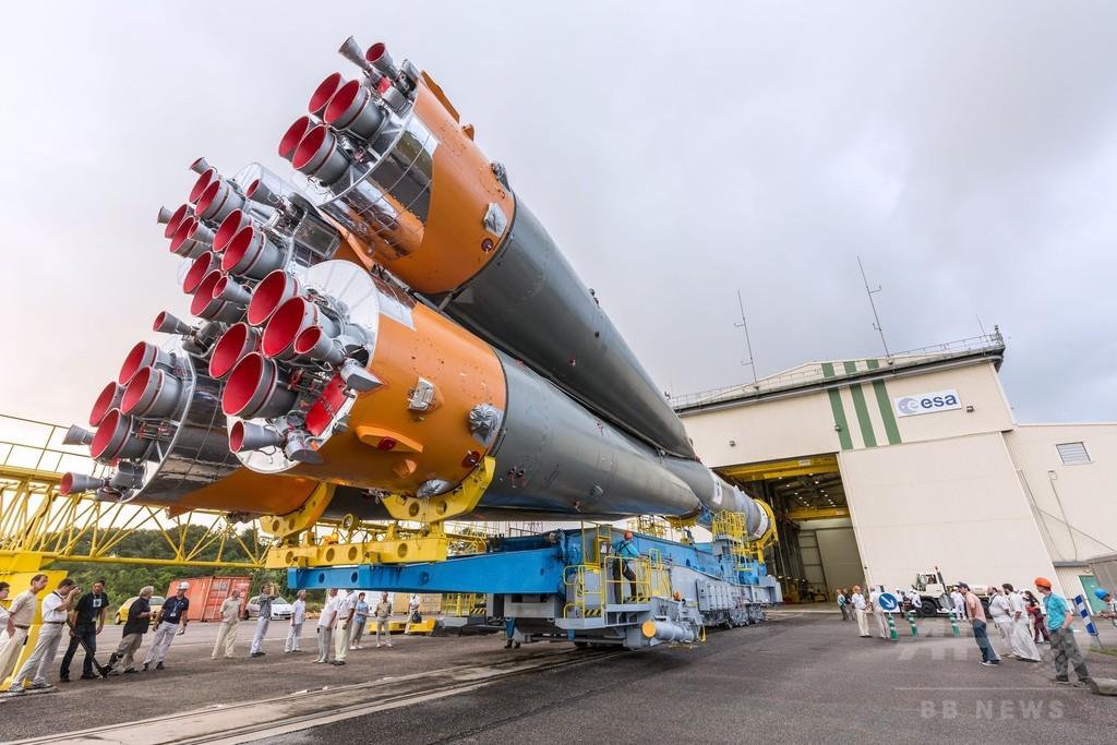 ソユーズ発射台に、ガリレオ測位衛星2機を軌道投入へ 仏ギアナ