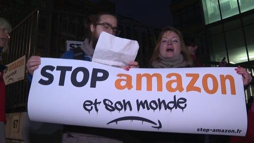動画:環境活動家がアマゾン仏本社に集結、「ブラックフライデー」の過剰消費に抗議