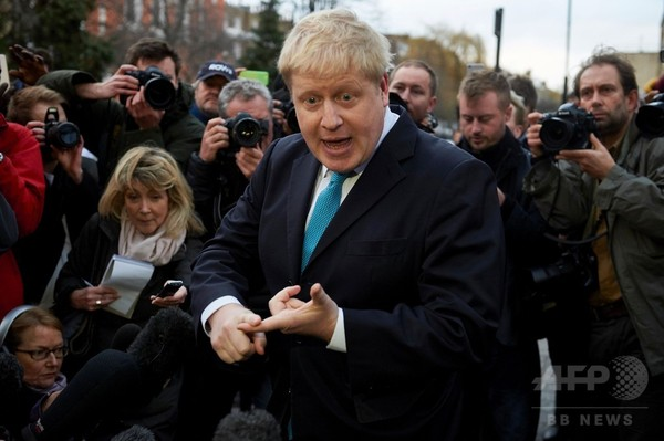 ロンドン市長、EU離脱支持を表明 キャメロン首相に痛手