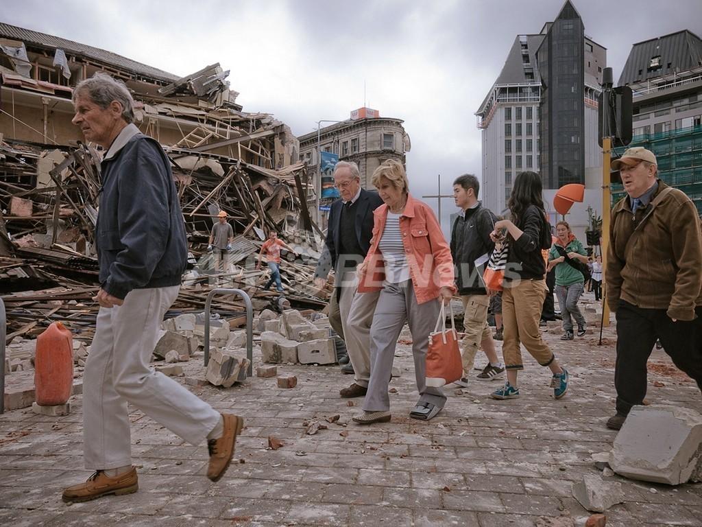 ニュージーランドでM6.3の地震、懸命の救助作業続く