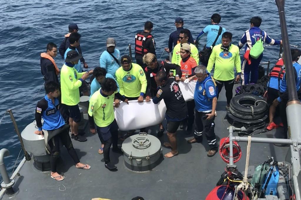 タイ観光船沈没 死者37人、不明者18人に