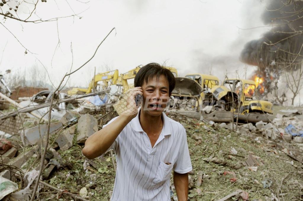 中国のプラスチック工場でパイプライン爆発、死傷者多数