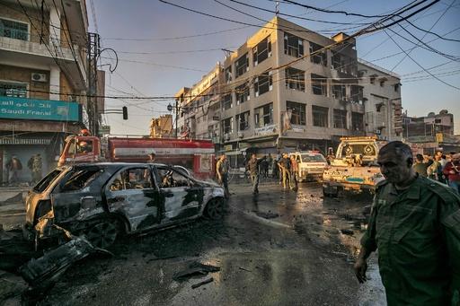 シリアのクルド人支配中心都市で同時攻撃、6人死亡