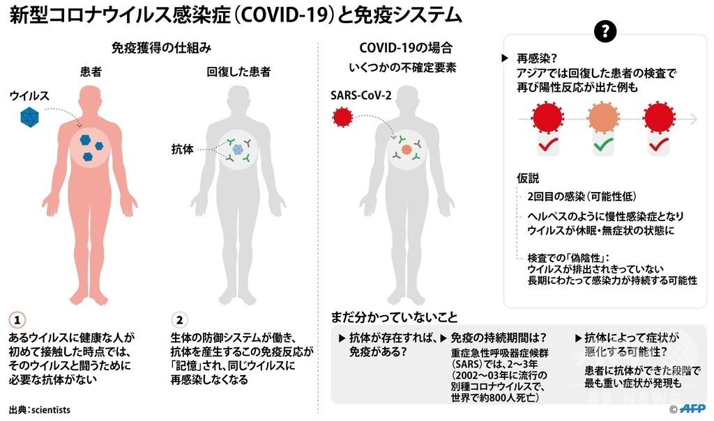 新型コロナ、回復後の免疫獲得はあるのか 専門家の意見