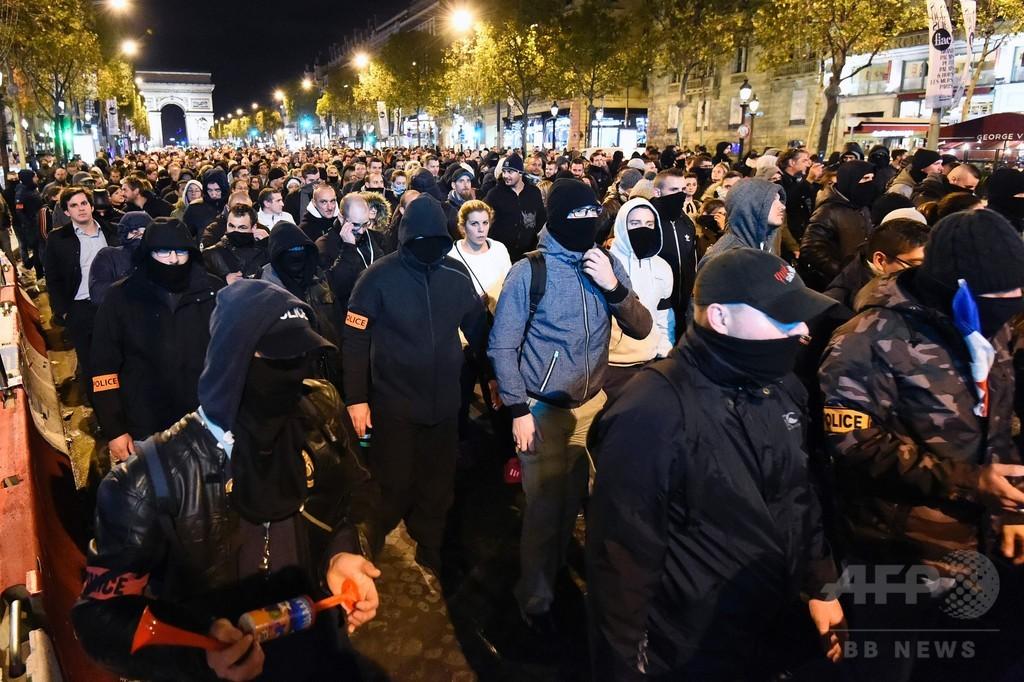 フランスで警官が3夜連続デモ、相次ぐ警官への暴力に抗議