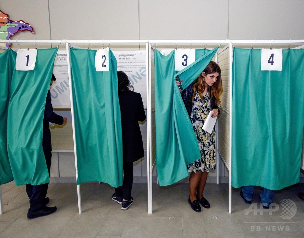 アゼルバイジャン大統領選、現職アリエフ氏が4選