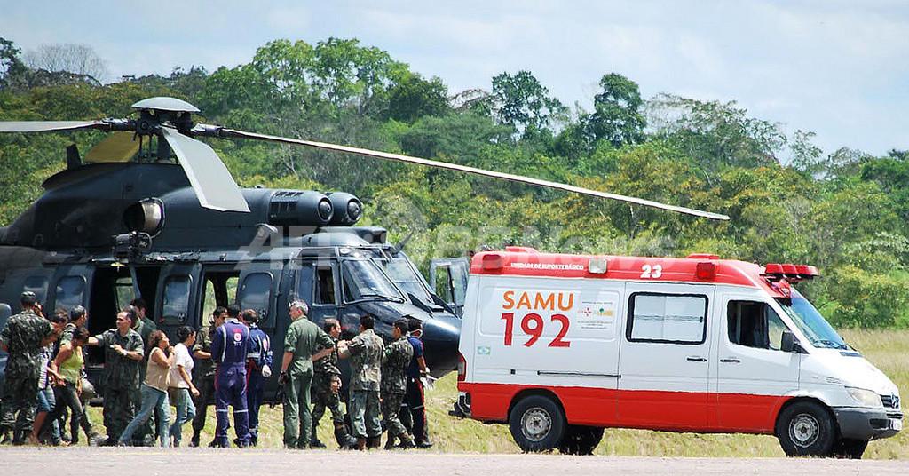 ブラジルで軍の小型機が事故、先住民が機体を発見