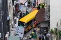 無人のスクールバスが暴走、4人死亡 香港