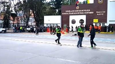 動画:コロンビア首都で警察学校爆破 9人死亡50人超負傷 現場の映像