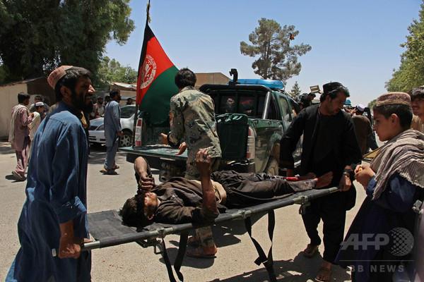 アフガンの銀行に車爆弾、34人死亡 タリバンの犯行