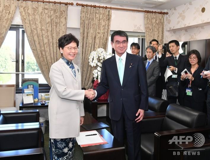 香港特区長官、初の日本訪問を終える