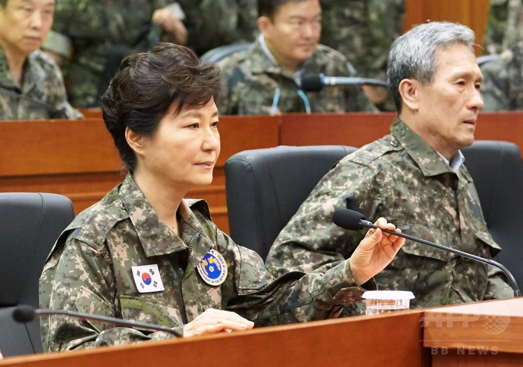 韓国大統領、軍服姿で「挑発容認しない」 北朝鮮は戦時態勢に