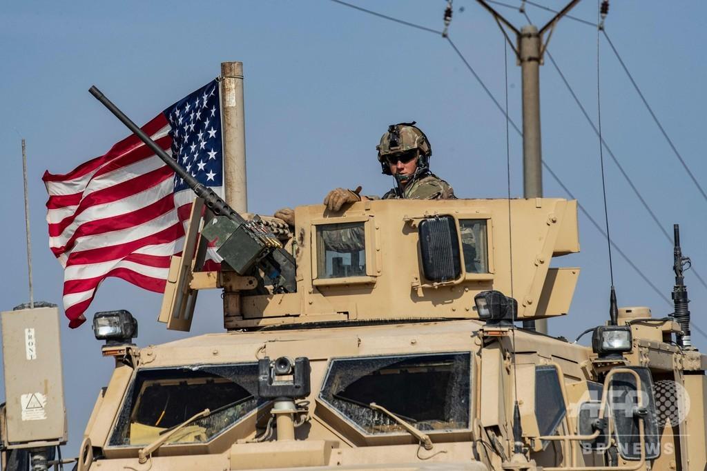 米、シリア東部に軍派遣 過激派から油田守る すでにイラクから軍の車列