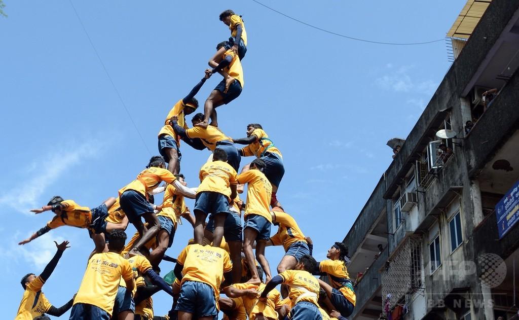 インド最高裁、子どもの「人間ピラミッド」禁止 転落事故相次ぐ