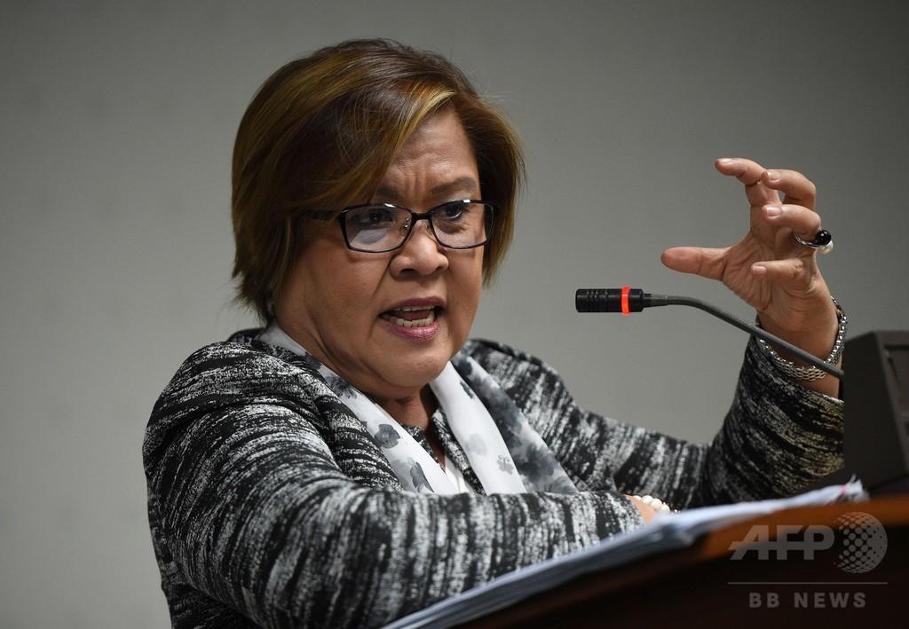 比上院議員、ドゥテルテ氏を「連続殺人犯」と非難