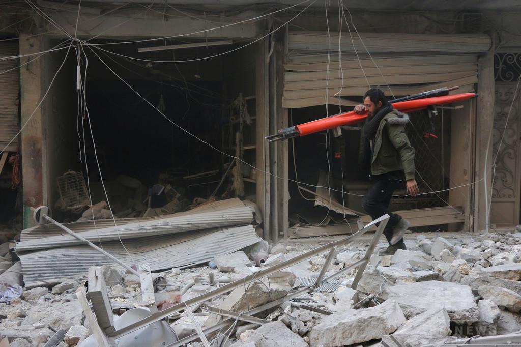 シリア・アレッポ、政府側と武装組織が激戦 4日間で100人超死亡