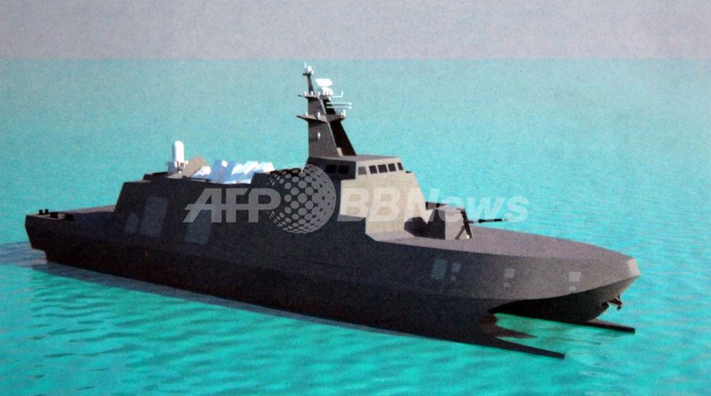 台湾、新型「対空母」ミサイル艇のCG画像公開