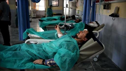 動画:タリバン攻撃で48人死亡 アフガン選挙控え連続自爆 現場の映像