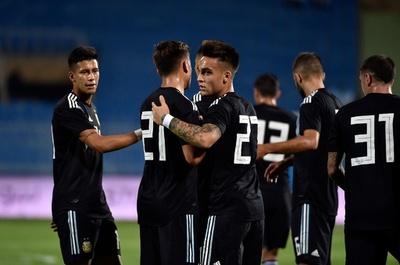 メッシ不在のアルゼンチンがイラクに快勝、ブラジル戦に弾み
