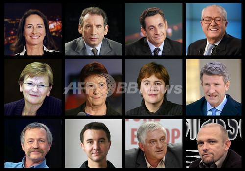 07仏大統領選挙>立候補締め切り...