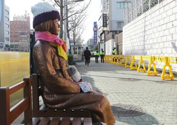 駐韓日本大使が一時帰国 「慰安婦像」への対抗措置