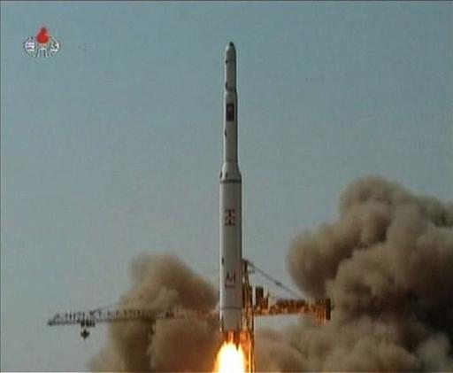 ロケット発射映像公開、「金総書記は人民を思い涙した」 朝鮮中央テレビ