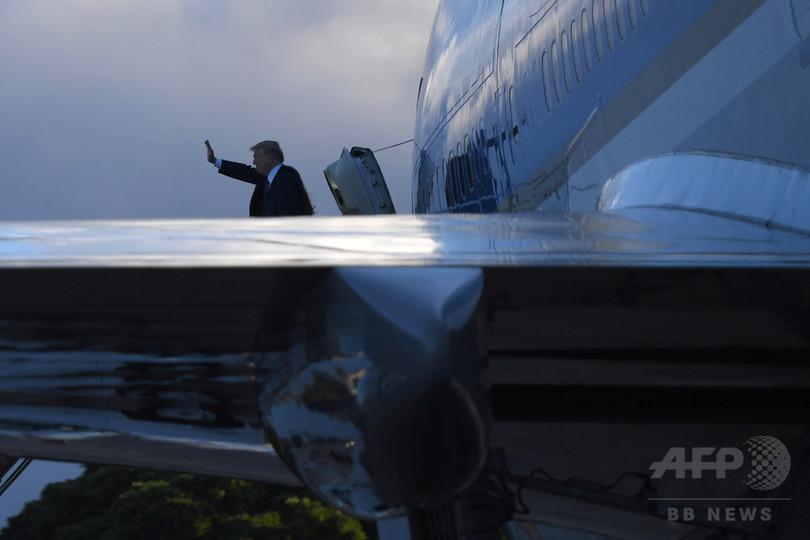 トランプ大統領、ハワイからアジア歴訪へ 安倍首相とゴルフも