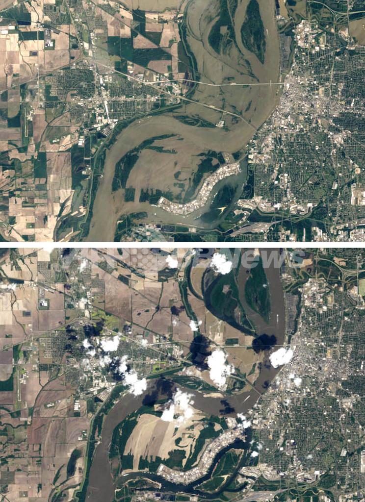 米ミシシッピ川が記録的な増水、流域各州で洪水被害
