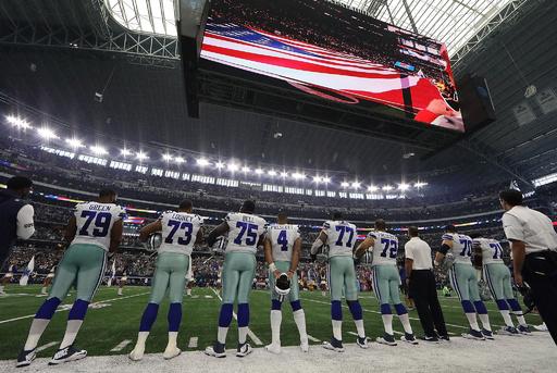 NFL「選手に国歌演奏時の起立を要求していない」、トランプ大統領に異議