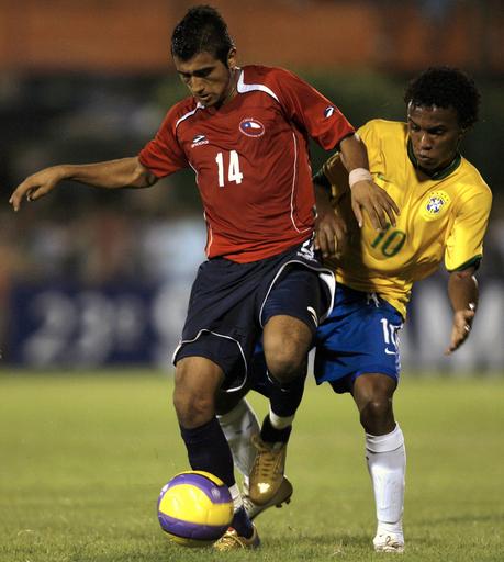 <サッカー 07南米ユース選手権>チリ ブラジルと引き分ける - パラグアイ