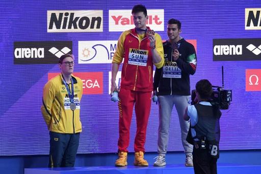表彰台拒否の豪選手に警告、孫楊への抗議で 世界水泳