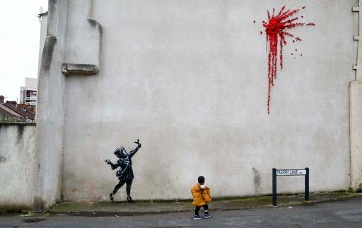 【写真特集】AFPの写真で見るバンクシーの作品、英国の覆面アーティスト