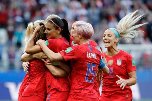 王者米国が歴史的大勝で発進、モーガン5発など13得点 女子W杯