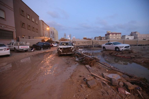 クウェートで豪雨、洪水により1人死亡