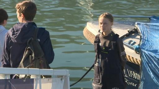 動画:グレタさん、ヨットで大西洋横断しポルトガル到着 COP25参加へ