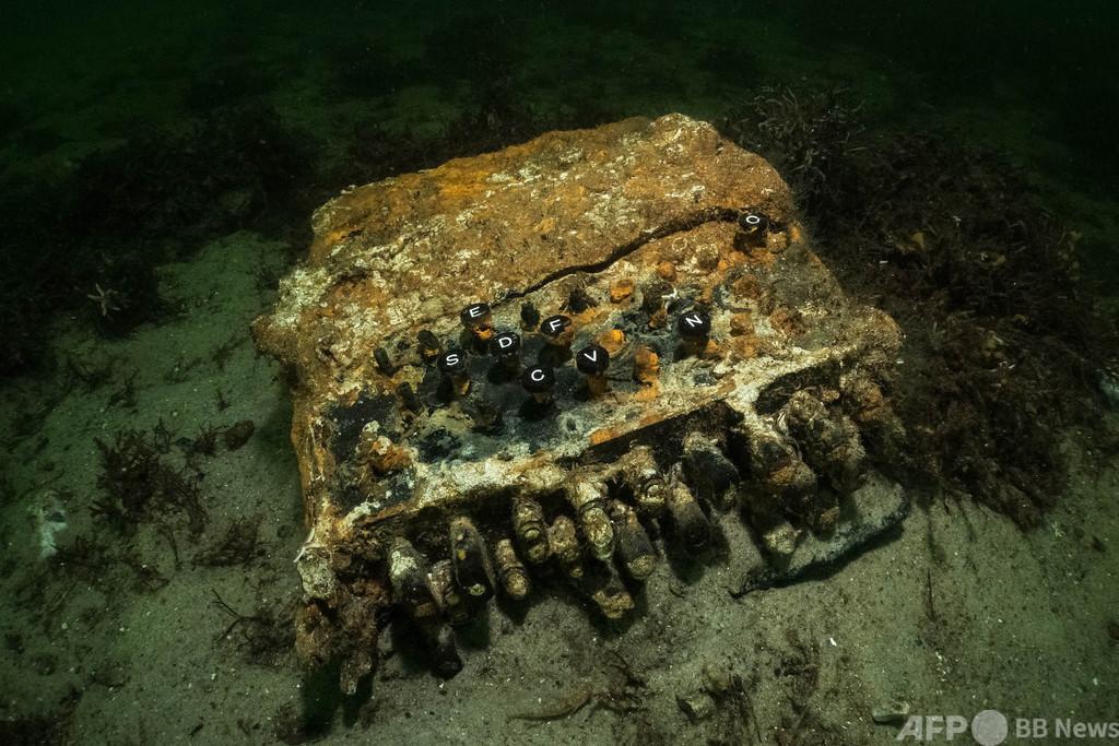 海底に眠るナチス暗号機「エニグマ」 ダイバーらが発見