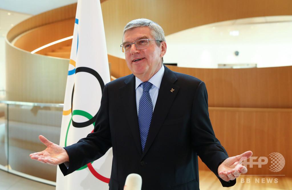 五輪選手は「品位ある」抗議手段の模索を IOC会長が要求