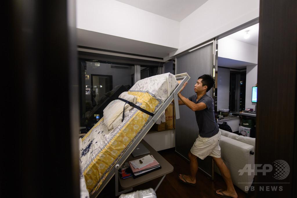 住宅価格高騰にあえぐ香港の若者たち、「ナノフラット」やシェアハウスも