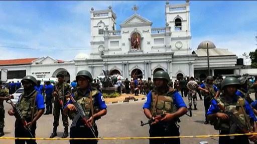 動画:スリランカ、高級ホテルや教会6か所で爆発、137人死亡 現場の映像