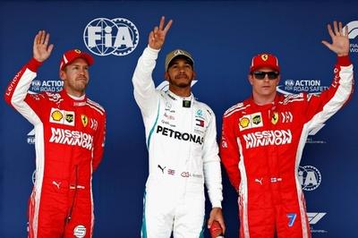 王座獲得目前のハミルトンがポールポジション、米国GP