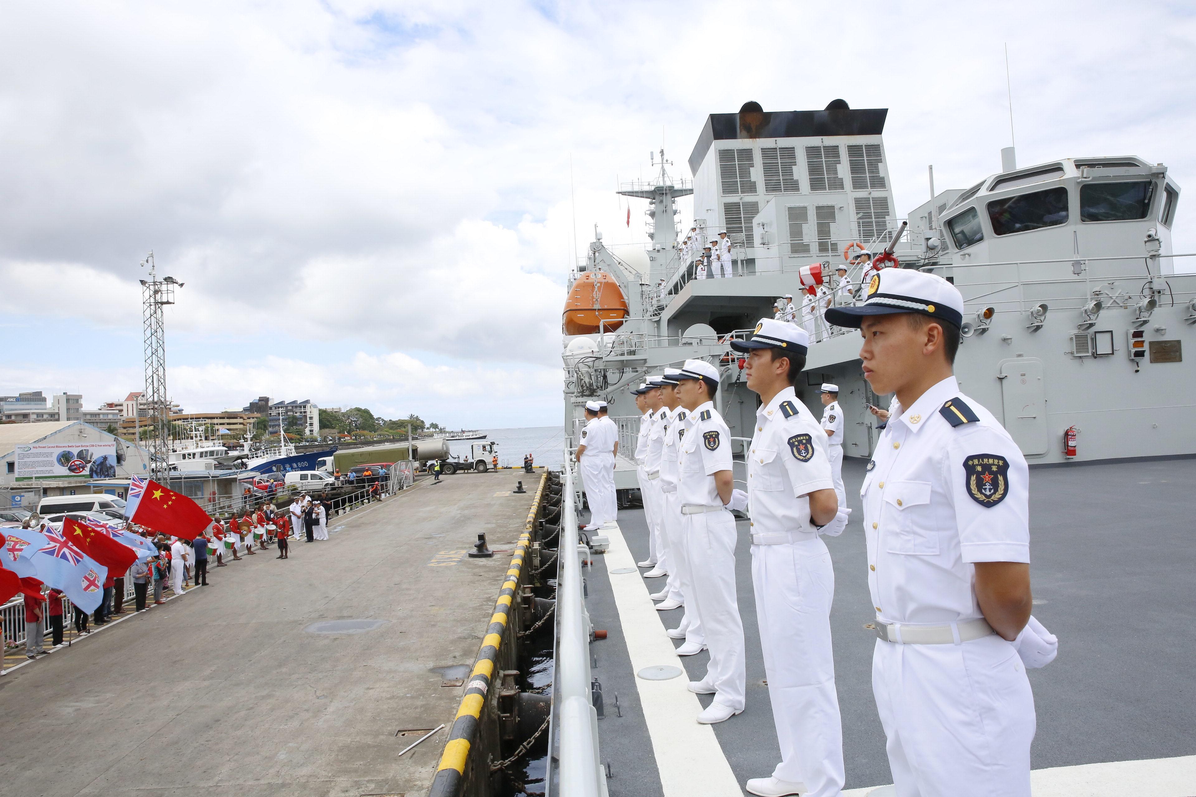 中国海軍訓練艦「戚継光」、フィジー訪問を終え帰国へ